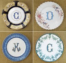 monogrammed plate monogram mania part 2 and a monogram giveaway the enchanted