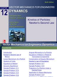 ch12 kinetics of particles newton u0027s second law momentum force