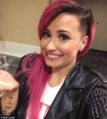 haircuts for woemen shaved one side long the other makeover alert demi lovato shaved her head side shave twitter