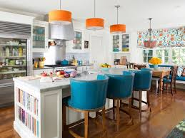 blue bar stools kitchen furniture furnitures cozy kitchen with glass cabinet and white island with