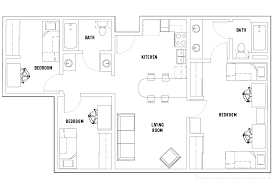 floor plans 3 bedroom 2 bath 3 bed 2 bath shared room mixed occupancy vista co norte