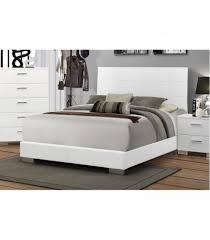 4 pc bedroom set glossy white bedroom sets 203501q coaster furniture