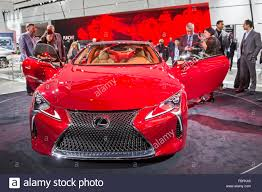 lexus lc 500 auto show detroit michigan the lexus lc 500 on display at the north