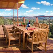 amazonia oslo 7 piece teak patio dining set sc oslo the home depot