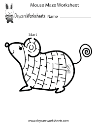 Preschool Worksheet Free Preschool Mouse Maze Worksheet