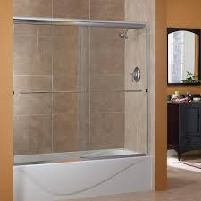 Shower Door Tub Foremost Cove 50 In To 54 In X 55 In Semi Framed Sliding Bypass