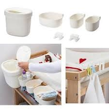 Changing Table Storage Ikea Baby Change Table Nappy Baskets Holder Storage Organiser Set