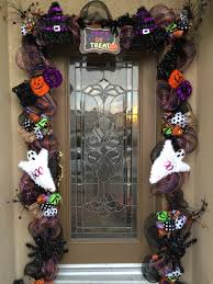 Lighted Halloween Garland by Halloween Deco Mesh Garland For The Front Door In Our Town Of