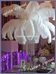 beautiful white ostrich feather centerpieces wedding decoration