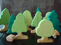 handmade wooden trees for or nature table wooden trees