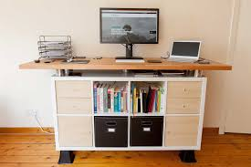 Standing Office Desk Ikea by My Awesome Standing Desk Ikea Hack Soulchaser