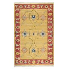 home decorators collection persia almond buff 5 ft x 8 ft area