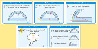 how to use a protractor display posters how to use a