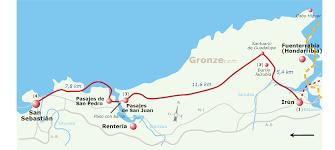 Camino De Santiago Map 1 From Irún To San Sebastián U2013 Camino De Santiago