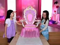 Disney Princess Armchair Mattel Barbie My Size Throne Youtube