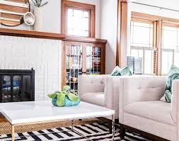 living room oak wood trim beautiful earthy craftsman living room
