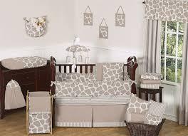 Giraffe Bedding Set Giraffe Print Baby Crib Bedding Set 9pc Nursery Collection Taupe