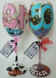 bridal wedding party hand painted wine glass party by alena 20 99