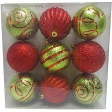 buy time green shatterproof ornaments set of 41
