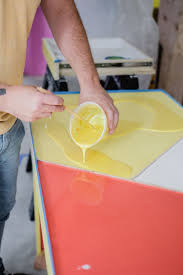 Diy Mixing Desk by Office Desk W Color Infused Epoxy Top Mixing In Paint Click
