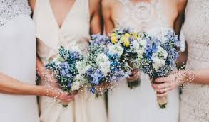 blue wedding bouquets inspiration blue wedding bouquets