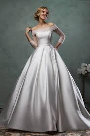 must have off shoulder long sleeve wedding dresses ideas