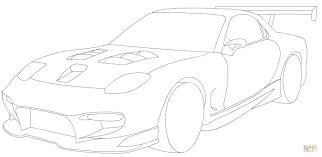 mazda rx 7 sport coloring page free printable coloring pages