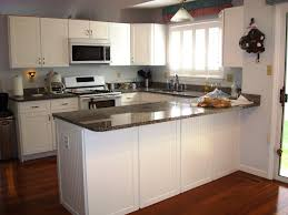 Shaker Kitchen Cabinets White White Cabinet Kitchens Wood Floor The Suitable Home Design