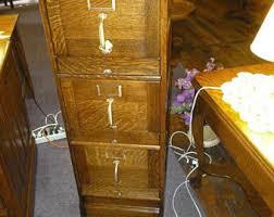 Antique Oak File Cabinet Antique File Cabinet Etsy