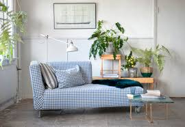 Chaise Lounge Sofa Covers by Simple Chic Falsterbo Chaise Lounge Cover In Gingham Check Blue