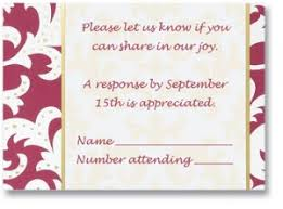 wedding invitation response card wedding invitations response cards and their wording