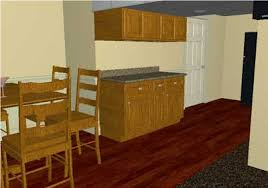 wood floor with oak cabinets and trim laminate flooring laminate