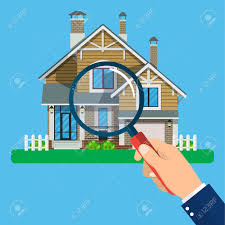 free house search magnifying glass with house real estate concept search for