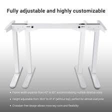 Height Adjustable Desk Legs by Amazon Com Flexispot 48