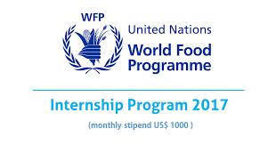 united nations world food program internship opportunity desk