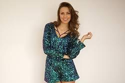 sequined jumpsuit mint jumpsuit lookbook