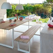 garden bench contemporary teak aluminum prato manutti