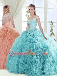 quinceanera dresses with straps exclusive see through back beaded detachable discount quinceanera