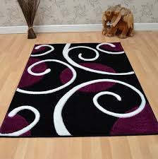 Black And Purple Area Rugs The Popular Purple And White Area Rugs Residence Remodel Damask