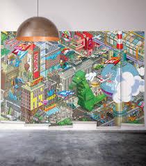 exclusive cool designer wall decor online milton king berlin mural