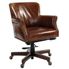 Leather Office Desk Chair Top Grain Leather Office Chair Crafts Home