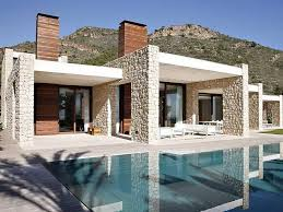 modern single storey house designs with pool modern house design
