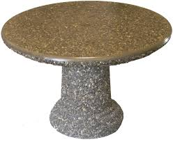 Outdoor Round Table Round Concrete Table With Benches Ideas Round Concrete Table With