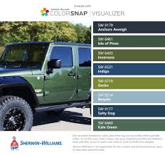 love jeep green sherwin williams anchors aweigh sw 9179 isle