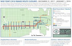 Gold Line Map 2018 Rose Parade Route Closures Begin 10 P M Sunday Dec 31