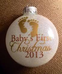 baby s ornaments 2014 personalized glass ornaments