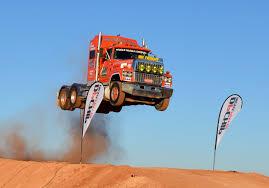 Ford Raptor Truck Jump - semi truck jump prime mover video 2 australia extreme live
