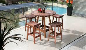 Round Wooden Outdoor Table Exterior Design Appealing Outdoor Furniture Design With Janus Et