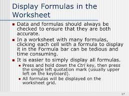 technology basics creating worksheet formulas 2 understand