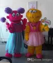 Halloween Costumes Sesame Street Oisk Sesame Street Zoe Abby Cadabby Mascot Costume Cheap Elmo